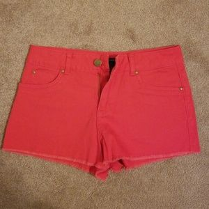 Forever 21 Red Jean Shorts